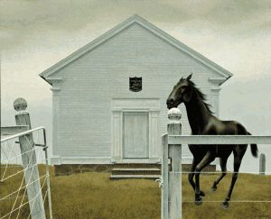 Church and Horse