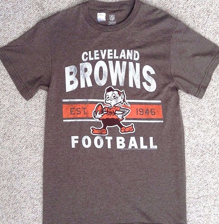 New CLEVELAND BROWNS BROWNIE THE ELF T-SHIRT Faded/Heather ...