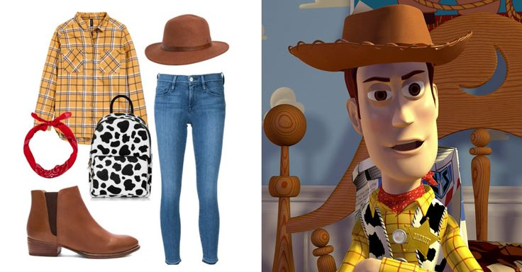 You Pretty Much Need These 14 Novelty Bags to Complete Your Next DisneyBound Look | Toy Story's Woody-inspired outfit + cow print backpack | [ http://di.sn/6000B7fNi ]