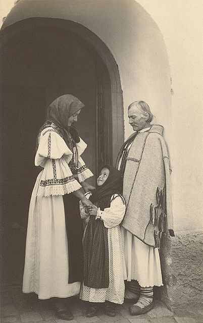 Peasant Family in Sibiu, Romania