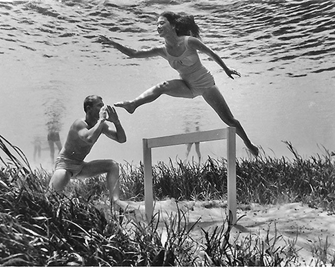 """""""Bruce Mozert created some of the most memorable kitsch photography in the era of Florida's tourism marketing boom of the 1950's. His underwater shots of beautiful models in crystal-clear waters were sent out on wire services and helped establish Silver Springs as Florida's premier tourist attraction."""" #genius"""