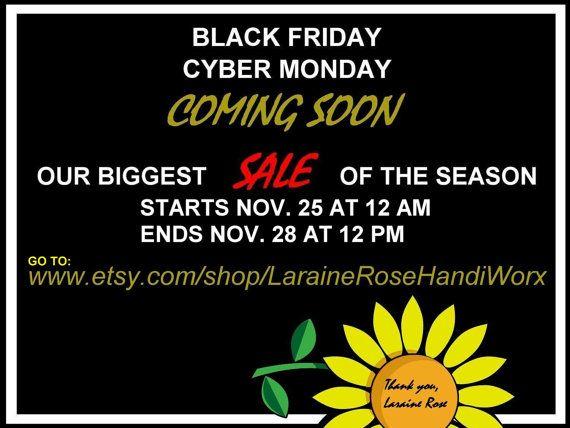 BLACK FRIDAY SALE by LaraineRoseHandiWorx on Etsy
