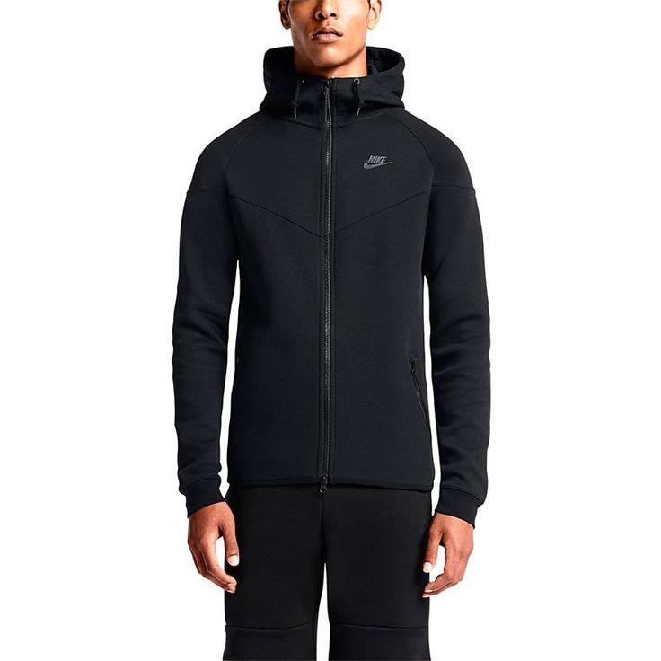 Nike Herren Langarm Hoody Tech Fleece AW77, Black, XXL