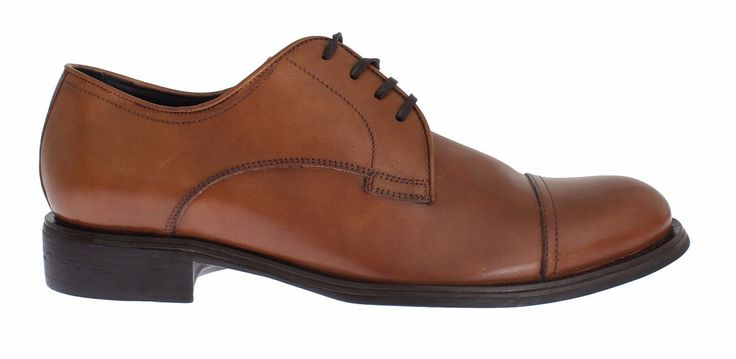 Dolce & Gabbana Mens Brown Leather Dress Formal Derby Shoes