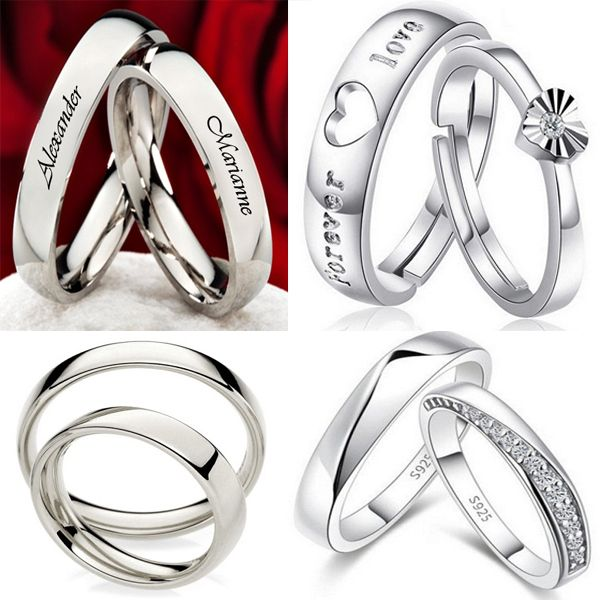15 Matching Platinum Rings For Couples In Relationship Styles At Life Engagement Rings Couple Couple Wedding Rings Couple Ring Design