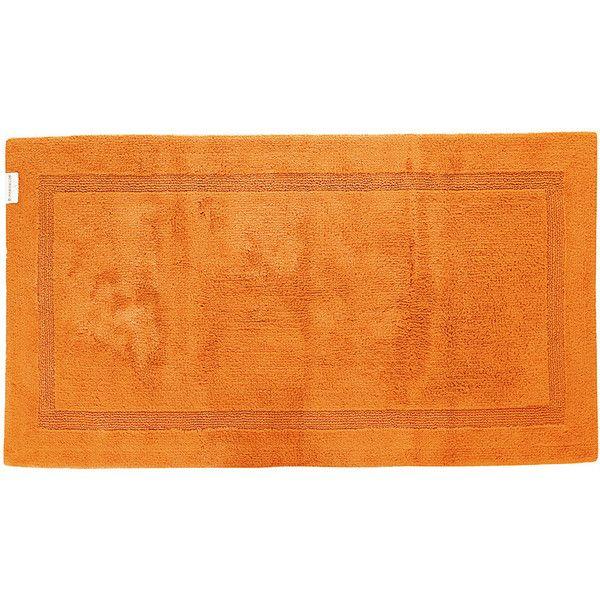 Abyss & Habidecor Reversible Bath Mat - 635 - 70x120cm ($223) ❤ liked on Polyvore featuring home, bed & bath, bath, bath rugs, orange, reversible bath mat, orange bathroom rugs, reversible bathroom rugs and orange bath mat