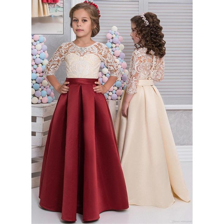 Kid Girl Floral Princess Dress Baby Party Wedding Pageant Formal Dresses Clothes. Style: Kid Baby Girl Princess Dress. Material: Lace Tulle. Pattern: Floral Lace. Size Bust Length Suggested Age.