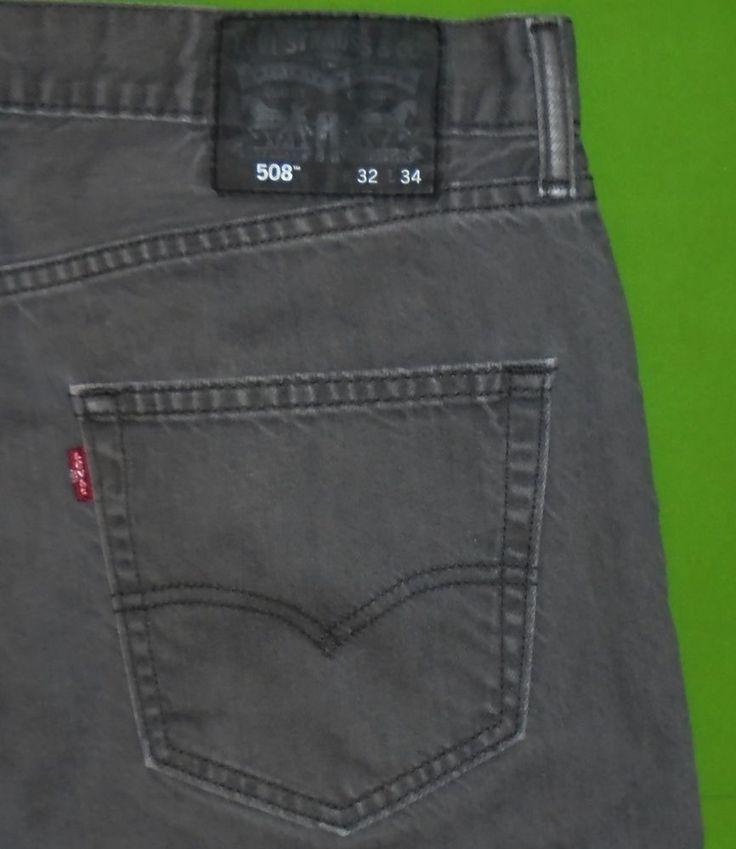 Levi's 508 Straight Fit Gray Denim Jeans Men size 32 x 34 #Levis #StraightFit