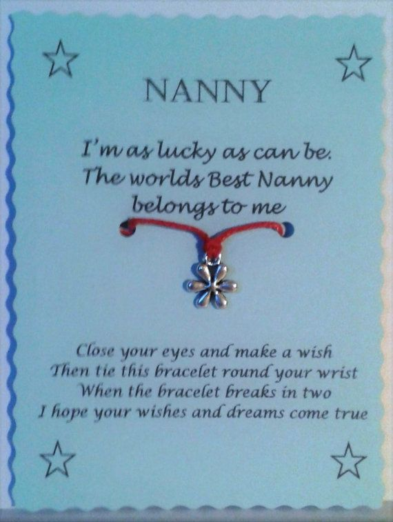 Hey, I found this really awesome Etsy listing at https://www.etsy.com/listing/246438991/nanny-gift-nanny-wish-bracelet-cord-wish
