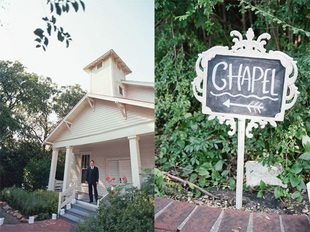 Historic wedding chapel at Farmers Branch Historical Park in Dallas | Lesleigh + Jeff Real Texas Wedding | photo by Dream Focus Studio | Wedding Wishes DFW Wedding Guide