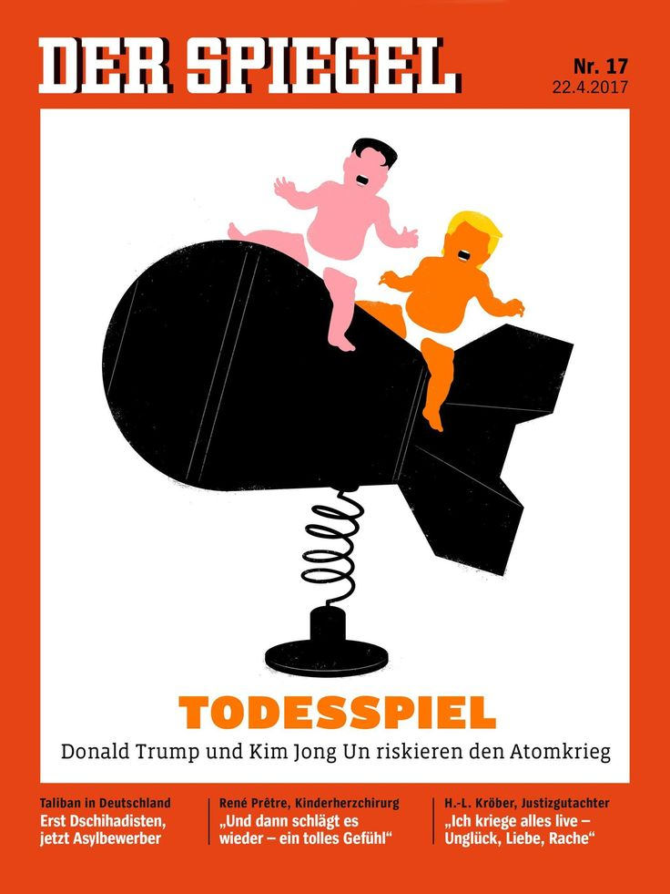 US President Donald Trump and North Korea's Kim Jong Un are on Der Spiegel's latest cover amid rising tensions in the Korean peninsula.