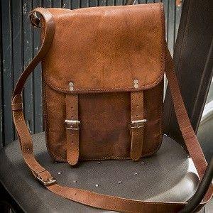 Distressed Leather Messenger Bag | Women's Messenger Bag