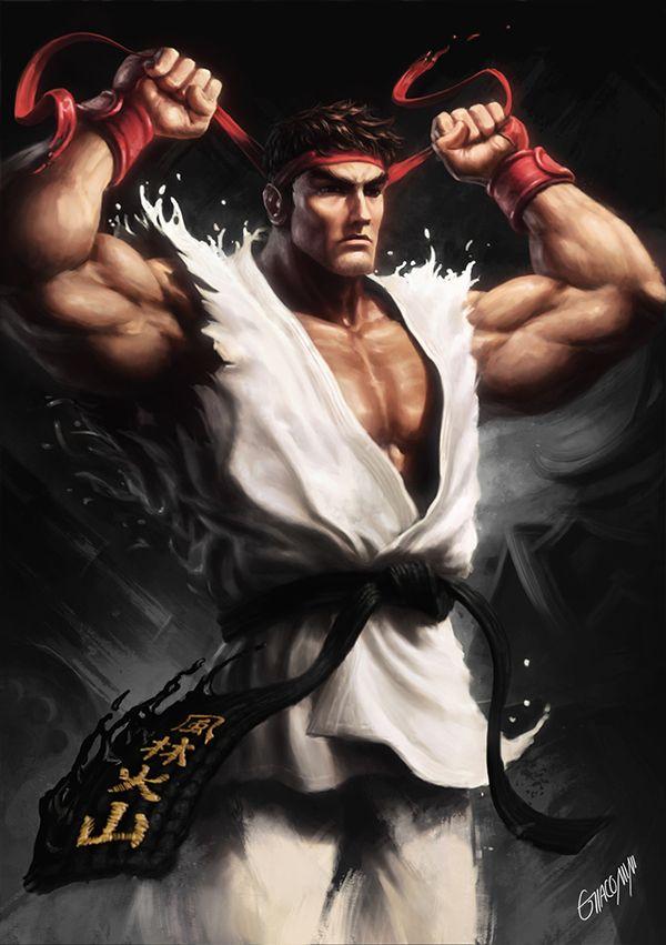 Ryu • Street Fighter Collab (Brazil) by Renato Giacomini, via Behance