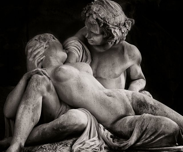 """Lovers at Luxembourg sculpture (Paris)  """"Life is indeed darkness save when there is urge, and all urge is blind save when there is knowledge, and all knowledge is vain save when there is work, and all work is empty save when there is love.""""    Gibran, Kahlil"""