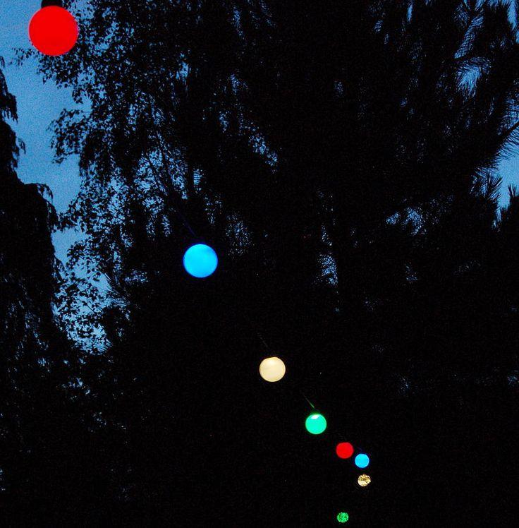 Multicolour Solar Bauble Lights