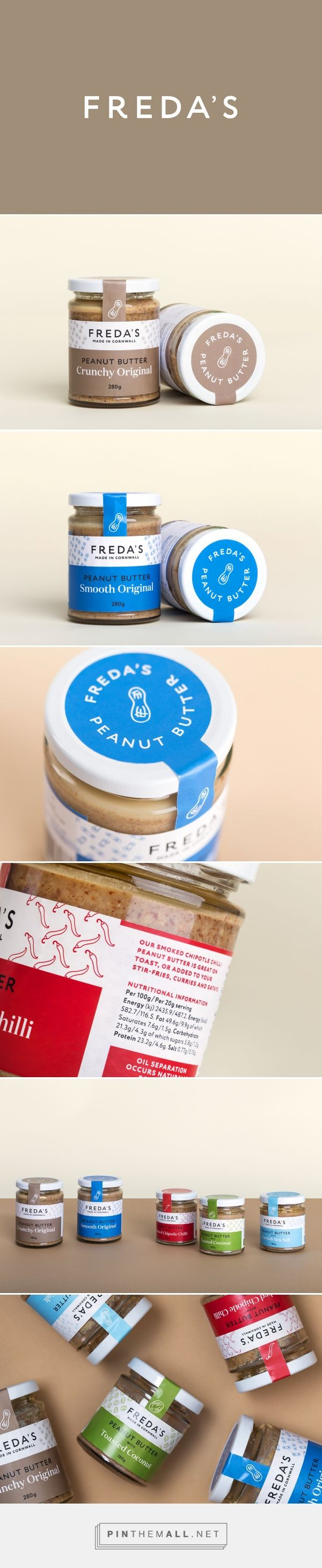 Freda's Peanut Butter Packaging by Friends Studio | Fivestar Branding Agency – Design and Branding Agency & Curated Inspiration Gallery  #peanutbutter #peanutbutterpackaging #packaging #package #packagedesign #packagingdesign #design #designinspiration