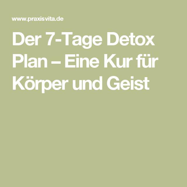 Der 7-Tage Detox Plan – Eine Kur für Körper und Geist