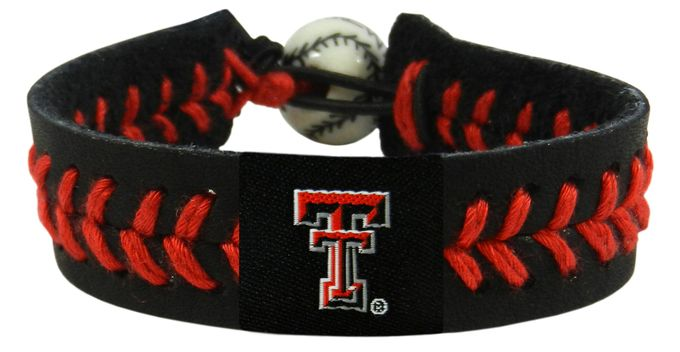 Texas Tech Red Raiders Team Color Baseball Bracelet