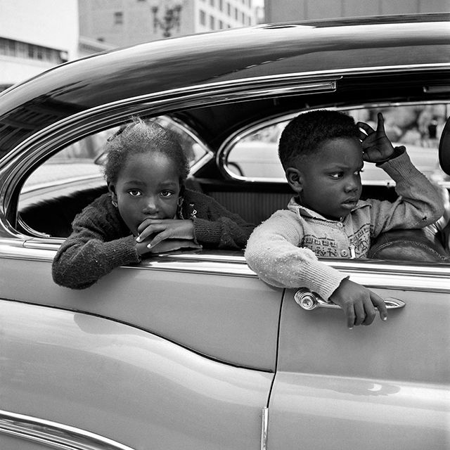 By Vivian Maier. A full time nanny living in Chicago in the 60s, Vivian captured over 100,000 vivid portraits of street life with her Rolleiflex.