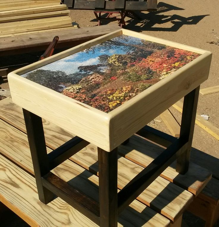 Have your favourite completed puzzle made into a sealed TV table. Another genius idea from Busy Wood. Contact Hendrik on 072 635 6050