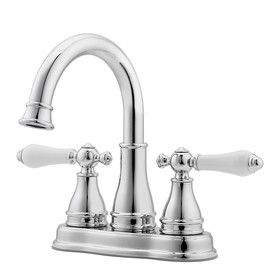 Pfister�Sonterra Polished Chrome 2-Handle 4-in Centerset WaterSense Bathroom Sink Faucet (Drain Included)