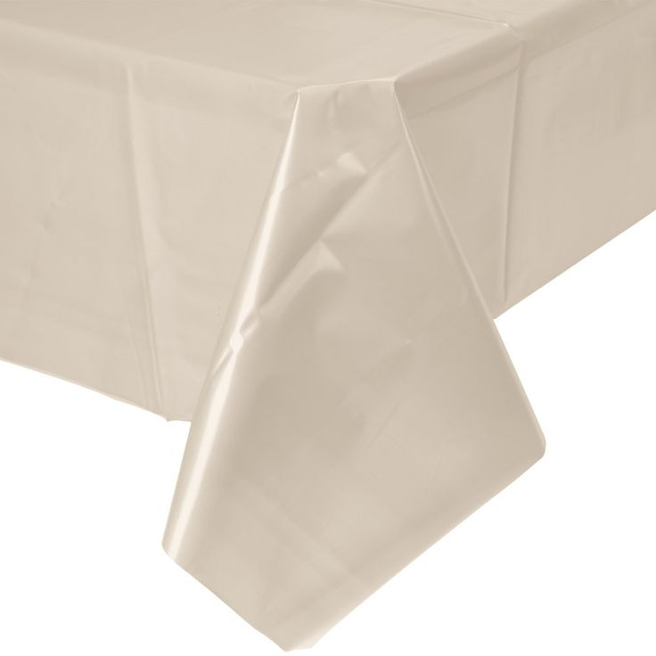 """These bright tablecloths are a must for any event. Choose from multiple colors. Mix and match with all your favorite tabletop decor! 54"""" x 108"""" Paper Waterproof plastic back"""