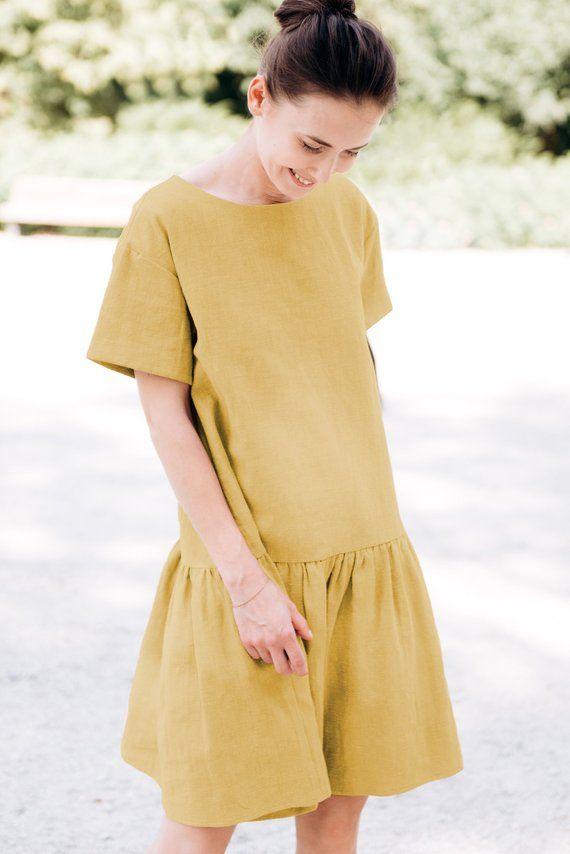 d0e4b4ed830 LeMuse yellow MAGIC linen dress in 2019