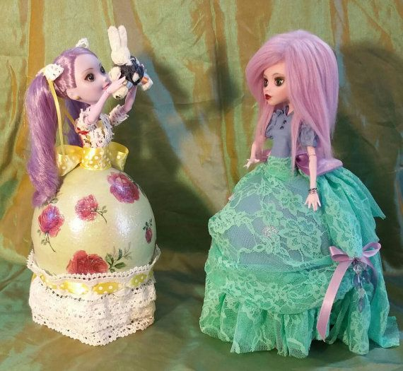 Happy Sweet Sisters are One of a Kind by EggcentricDolls on Etsy