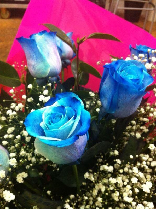 Ramo de rosas azules. #rosas