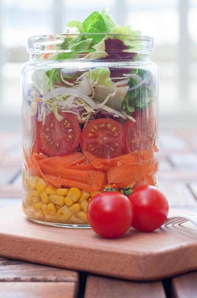 salade jar recettes