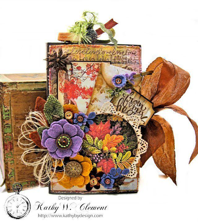 Thankful Heart Tri Fold Folio by Kathy Clement | www.tammytutterow.com