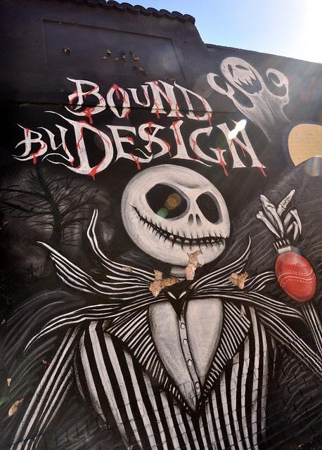 """Jack"" Bound By Design tattoo shop: graffiti wall, Denver, CO"