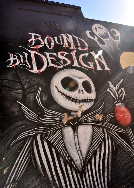 """Jack"" Bound By Design tattoo shop: graffiti wall, Denver, CO"