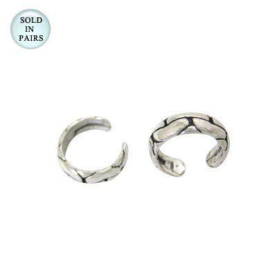 Snake Skin Design Sterling Silver Ear Cuffs Body Jewelry. $18.99. Width: 2mm. Length: Adjustable. .925 Sterling Silver. Non Piercing