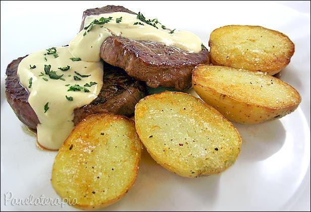 PANELATERAPIA - Blog de Culinária, Gastronomia e Receitas: Medalhão de Baby Beef ao Molho de Mostarda