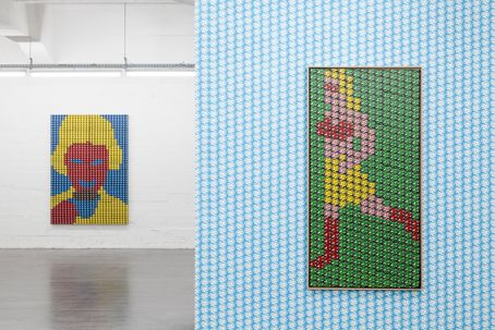 """Thomas Bayrle - installation view """"All-in-One"""", Wiels, Brussels, 2013."""