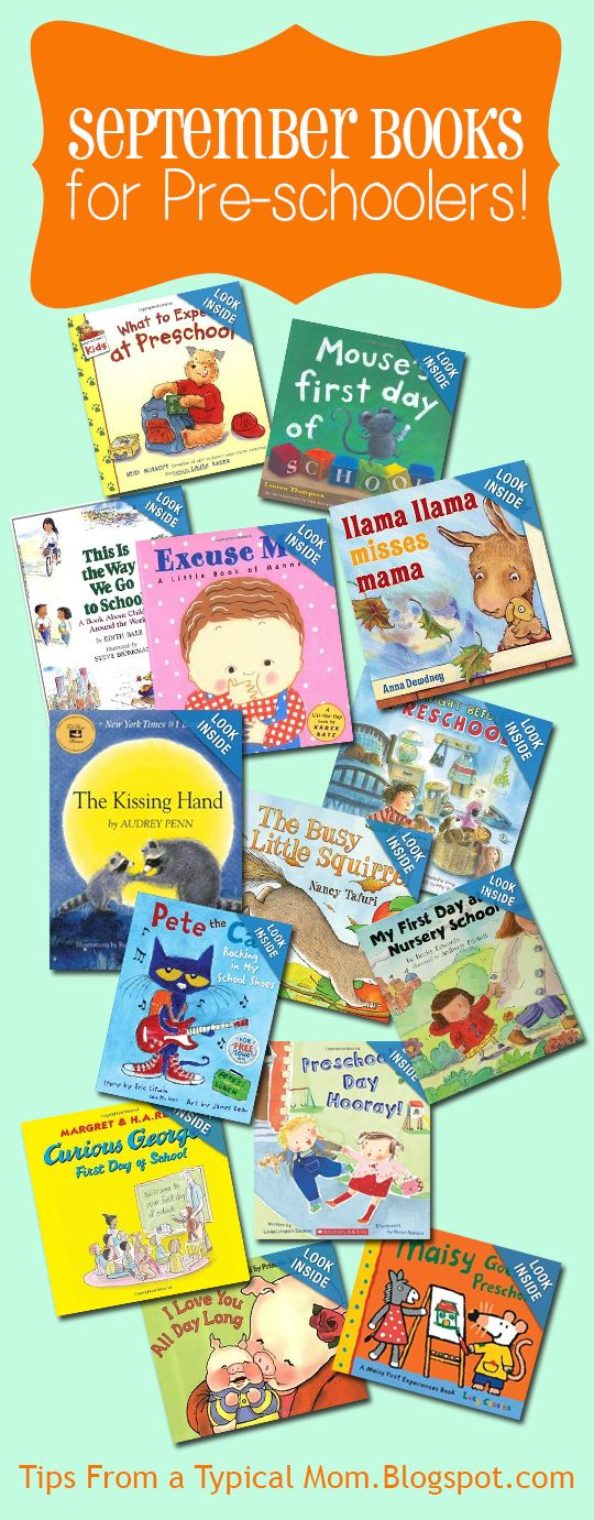 {September} Preschool Book List - Tips from a Typical Mom