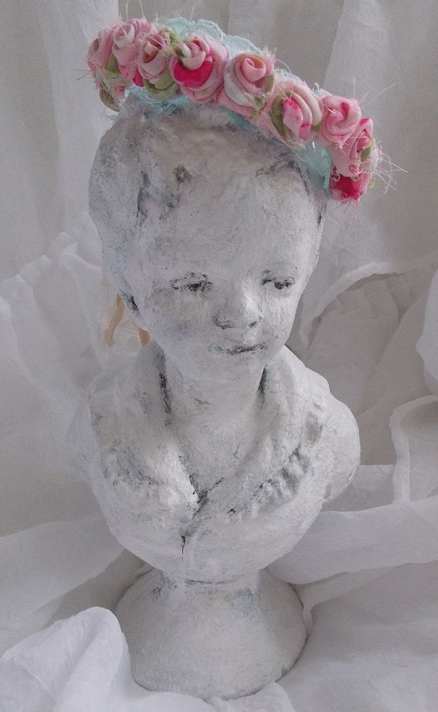 cherub angel rose shabby french rococo bust vintage victorian style chic crown