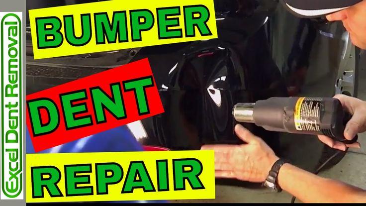 Bumper dent repair how to remove a dent in a plastic