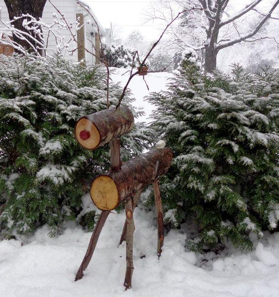 Les 25 meilleures id es de la cat gorie d corations de porche de no l sur pinterest lanternes - Renne de noel en bois ...