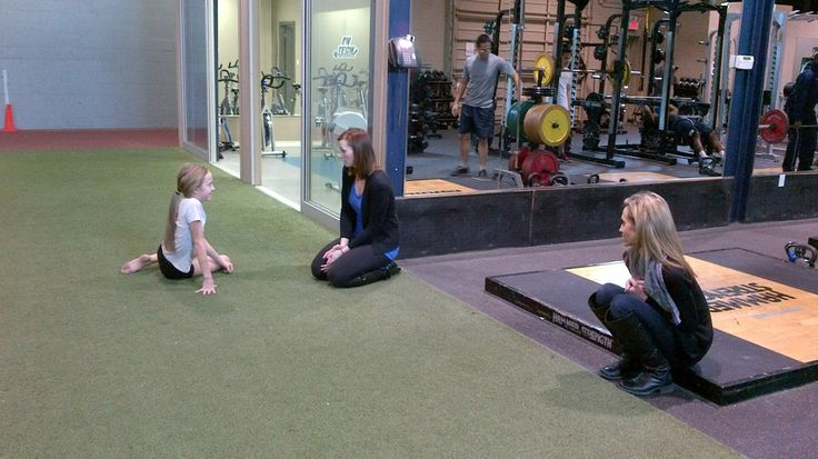 A4A Athletic Therapist Kristen rehabs a #young #dancer as mom looks on. — at Advantage 4 Athletes, A4A.