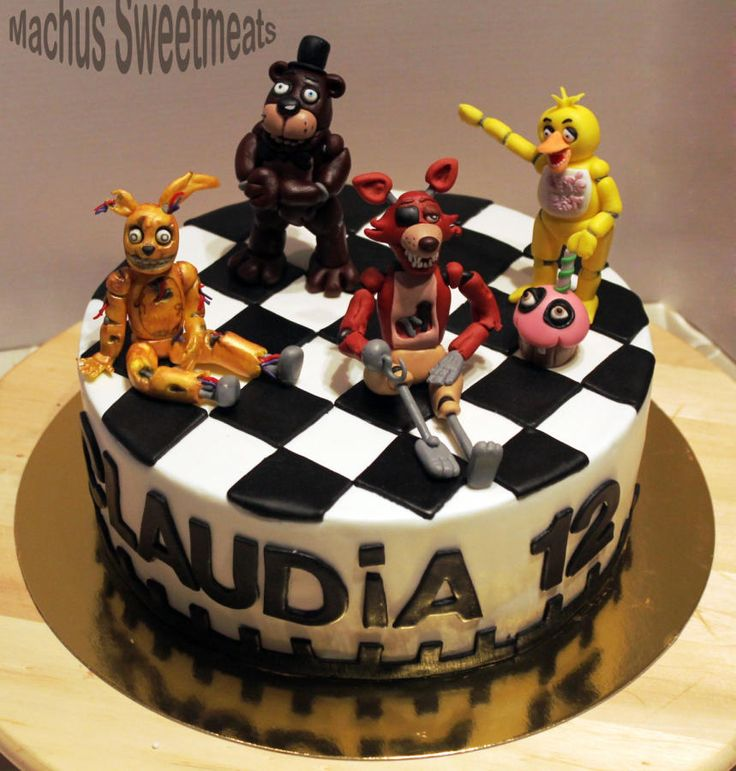 Tarta five nights at freddy's. Five Nights at Freddy's cake. - Cake by Machus sweetmeats