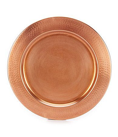 southern living copper charger plate with hammered rim dillards