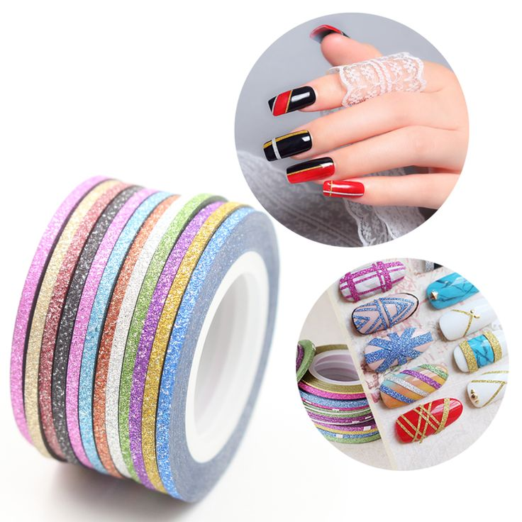 12 Colors  Matte Color Rolls 2mm Striping Tape Line Rough Styles Nail Art Tips Decals Beauty Decorations Nail Accessories