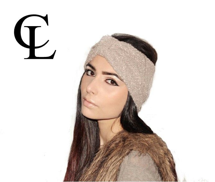 CL Chunky Knitted Turban headband #CL #ChunckyKnitted #Turbanband