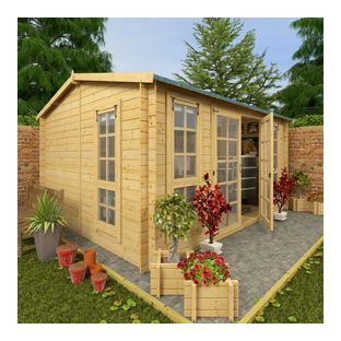 billyoh garden office log cabin 13 x