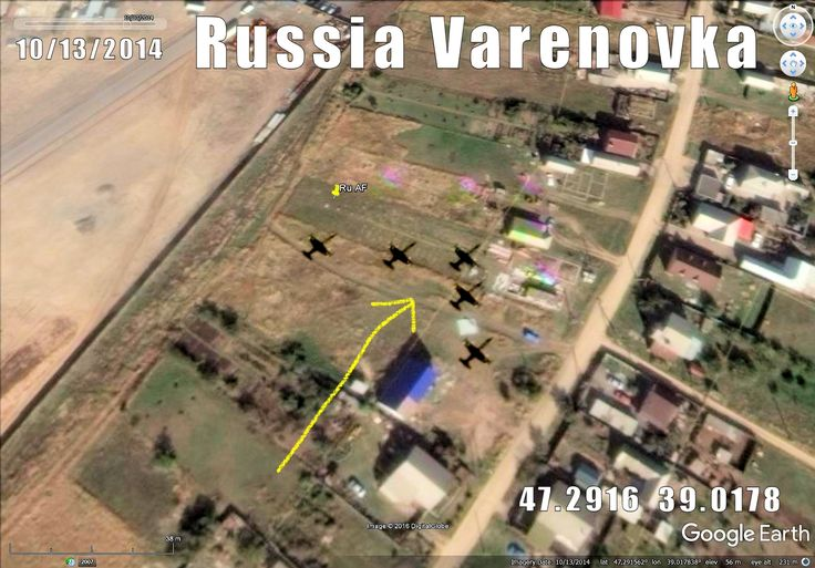 """Russian AF group """"Team Russ"""" from Vyazma captured at sat pict 14km from Taganarog,"""