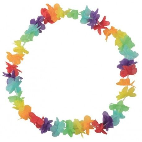 Collier hawaïen multicolore collier hawaï fleurs