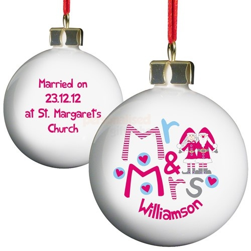 Personalised Christmas Bauble - Mr and Mrs  from Personalised Gifts Shop - ONLY £9.95