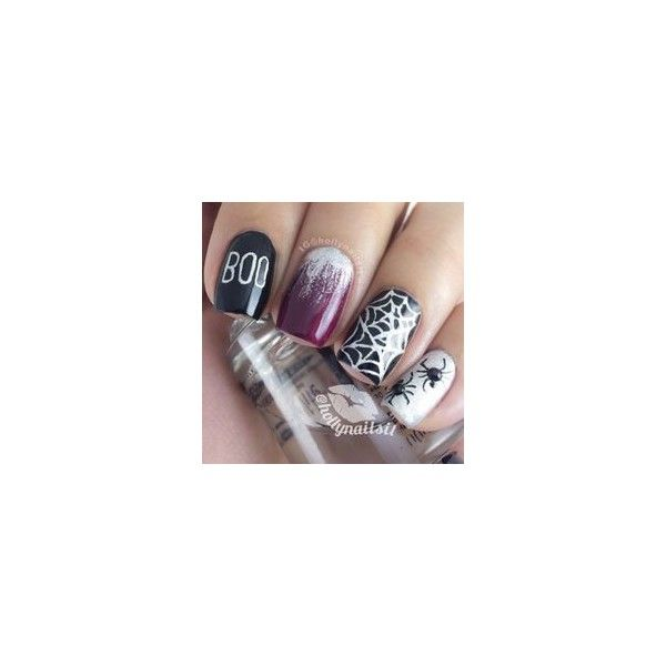 10 Halloween Acrylic Nails Art Designs Ideas 2014 French Manicure ❤ liked on Polyvore featuring beauty products, nail care, nail treatments, nails, hair and makeup and nail polish
